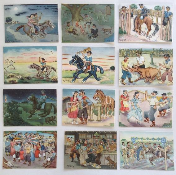 Coleccion Completa Postales Gauchescas Menenez Came 1950