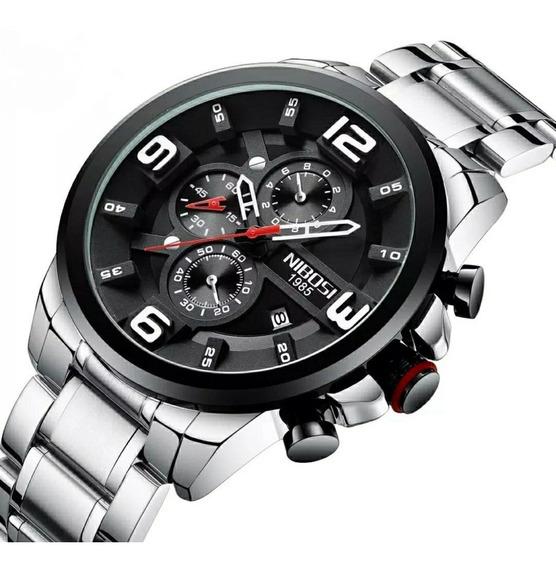 Relógio Masculino Nibosi Vidro Hardlex 100% Funcional