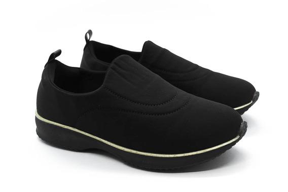 Sapato Modare 7321.203 Preto/preto/dourado