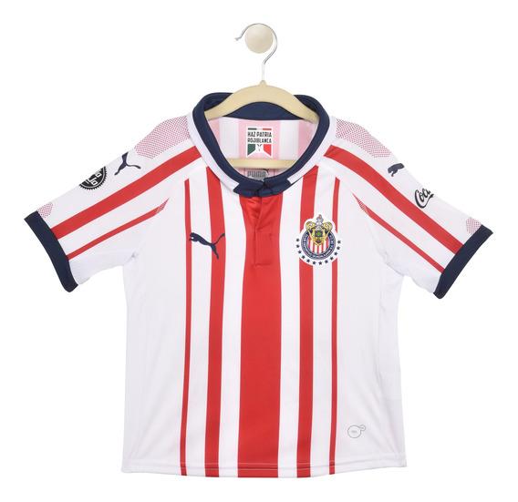 Puma Playera Chivas Para Niño Blanca 762576 01