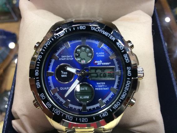 Relógio De Pulso Masculino Promoção Lançamento Ostentação