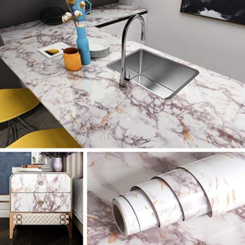 Livelynine Marble Contact Paper Peel And Stick Countertops W