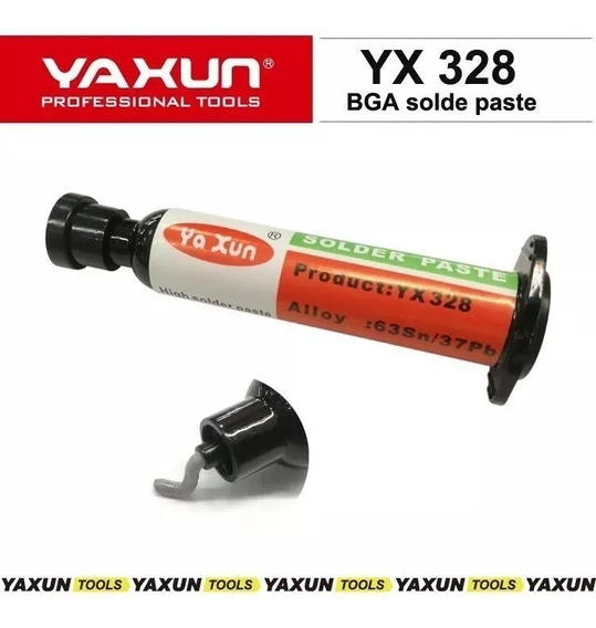 Solda Em Pasta Yaxun Yx-328 Com 50 Gramas - Sn63 Pb37