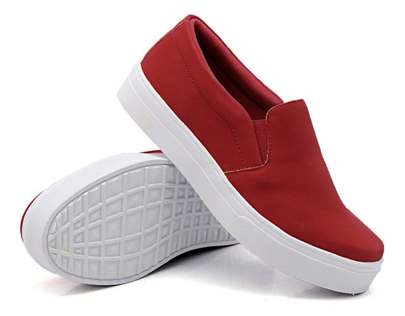 Tenis Iate Slip On Feminino Liso Original Dk Shoes