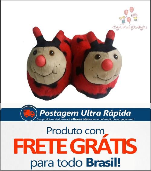 Pantufas Joaninha Infantil Adulto Personagens