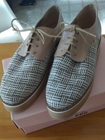 Zapatos N° 39 Miye Collazzo, Tipo Acordonado