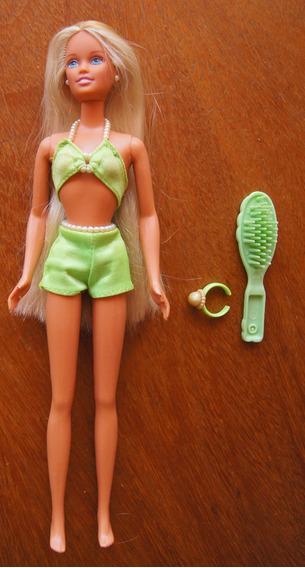 Boneca Skipper Barbie Pearl Beach Com Anel
