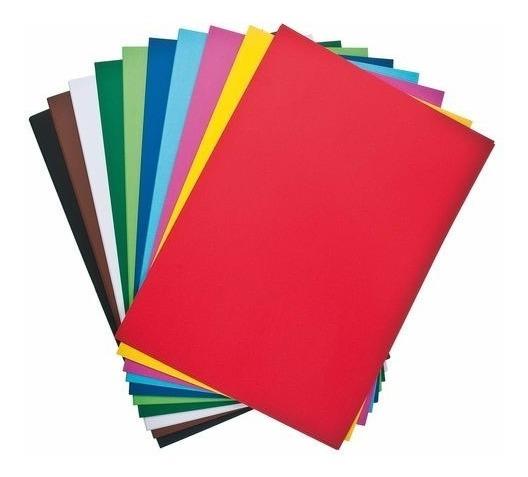 Cartulina Escolar Luma 45x63cm Varios Colores Calidad X 60un