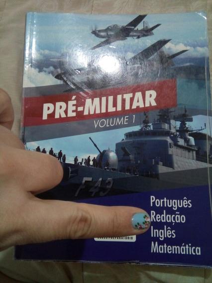 Livro Pré Militar ,volume 1 Port.redação,inglês E Matematica