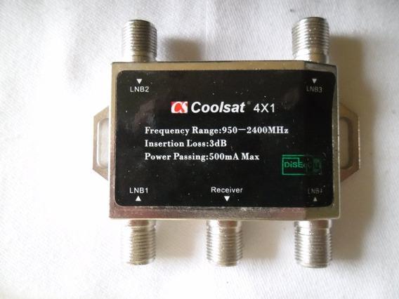 Kit 20 Coolsat ,exlenc 4x1 Comutora P/ 4 Antenas Satélite Hd