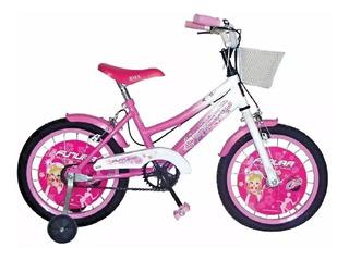 Bicicleta Infantil 4041 Rod 16 Nena Futura Twin Bmx Kromo-s