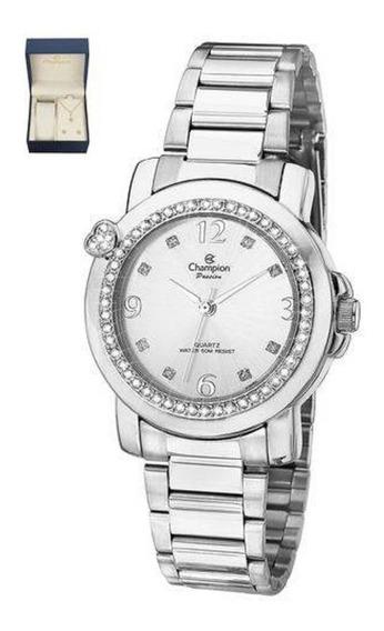 Relógio Feminino Champion Strass Ch24535b Otimo Presente
