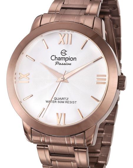 Relógio Champion Feminino Chocolate Original Barato