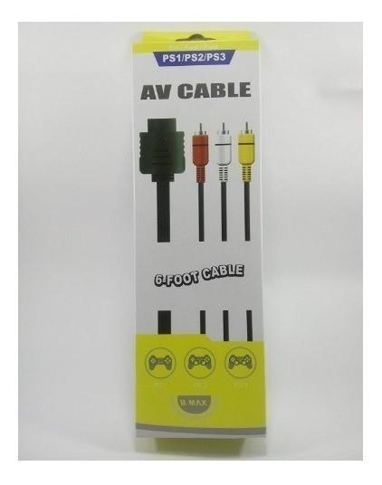 Cabo Av Audio E Video Rca Playstation Ps3 Ps2 Ps1