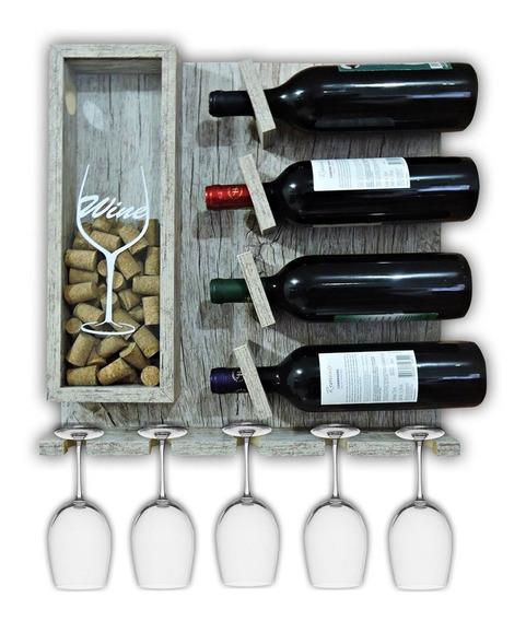 Adega Madeira Estante Para Vinhos Aparador De Parede Vintage