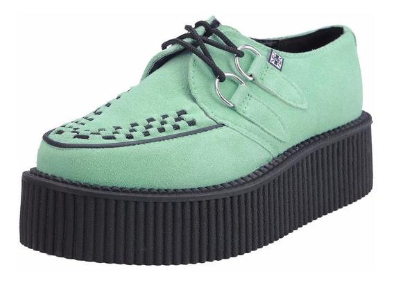 Zapatos Creepers Tuk Piel Menta A8308 Demonia New Rock Punk