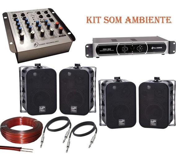 Som Ambiente Kit Completo Mesa + Potência + Brinde Nca