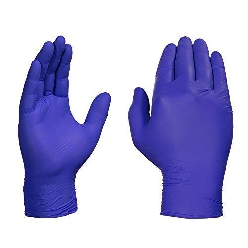 100 Guantes de nitrilo desechables Indigo S M L XL antirresbalante de polvo y