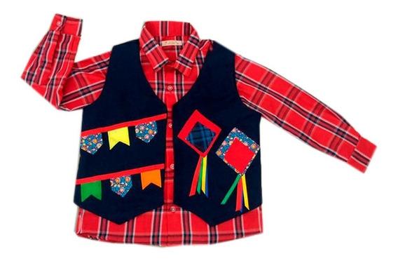 Camisa/colete Junino