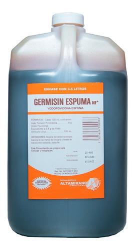 Desinfectante Espuma Antiséptica Yodopovidona Germisin 3.5 L