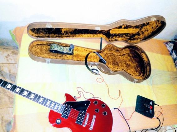 Guitarra Golden+case+pedaleira 505zoom