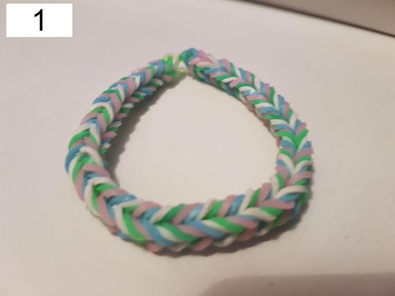 Pulseira Elastico 17 - Rainbow Loom 6 Unidades