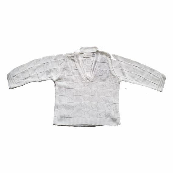 Suéter Branco Em Linha