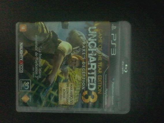 Uncharted 3 Para Ps3 Original E Capa Original.