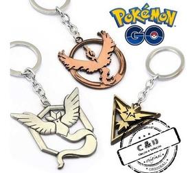 Chaveiro Pokemon Go Instinct, Mystic Ou Valor 1 Peça