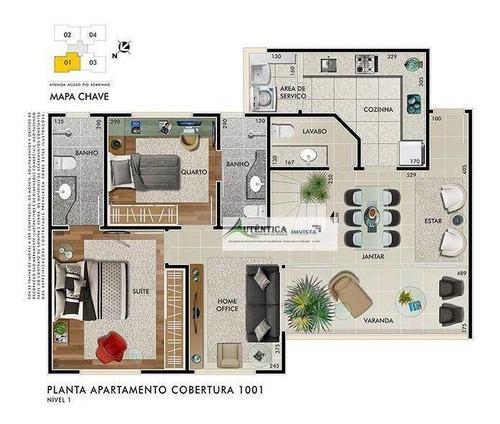 Imagem 1 de 11 de Cobertura Residencial À Venda, Buritis, Belo Horizonte. - Co0192