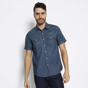 Camisa Jeans Com Bolsos Levis - Azul