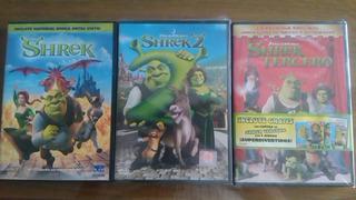 Shrek 1, 2 Y 3 Dvd Nuevo Original