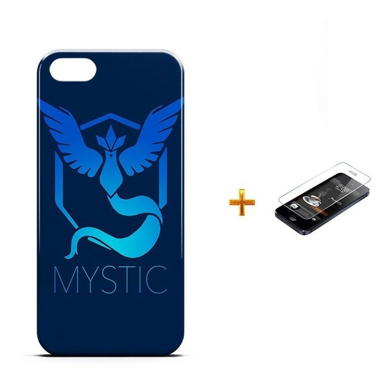 Kit Capa iPhone 5/5s Pokemon Mystic Team +pel.vidro Bd1