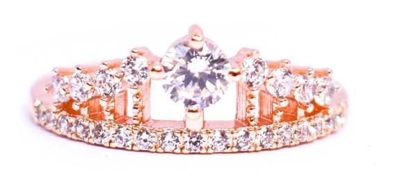 Anillo Corona Rosado Piedras Cristal Salirstyle Envío Gratis