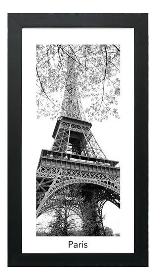 Quadro Com Vidro Eifel 30x55cm