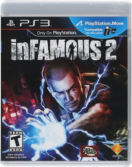 Game Play3 - Infamous 2 - Semi-novo Jogo Ps3