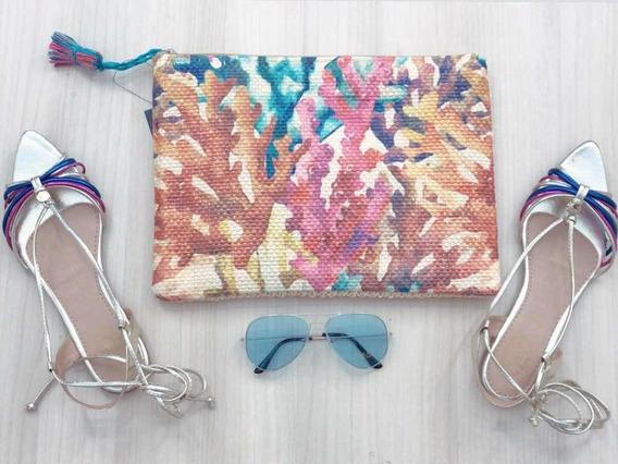 Kit Fashion Com Sandália Rasteira, Clothes E Óculos.