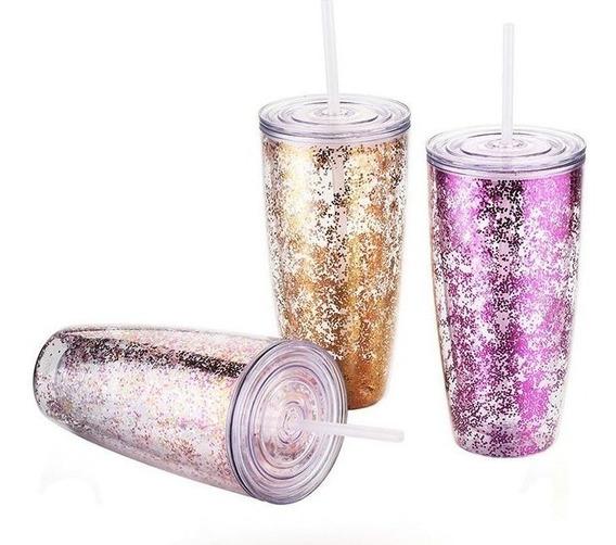 Vasos Termos Con Glitter La Mejor Calidad !!!