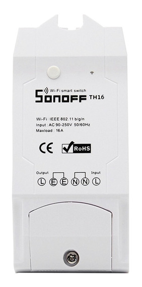Kit Autom. Dom. Sonoff Th16 Smart Wi-fi P/ Alexa Google Home