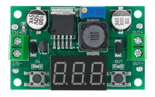 Regulador De Tensão Lm2596 Dc-dc Step Down Com Voltimetro