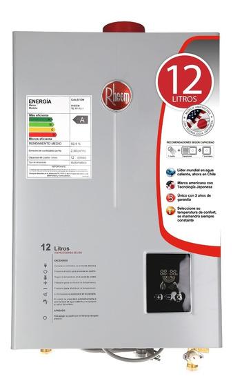 Calefón Gas Licuado 12 Litros Tiro Forzado Rheem Digital