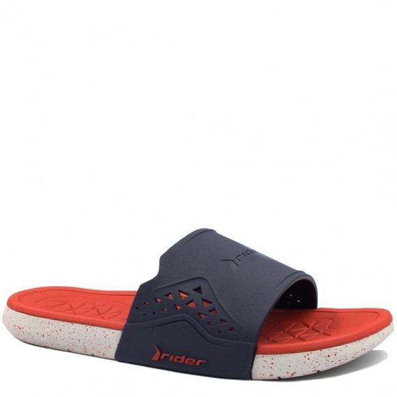 Chinelo Rider Slide Meninos 11339 - Azul/vermelho