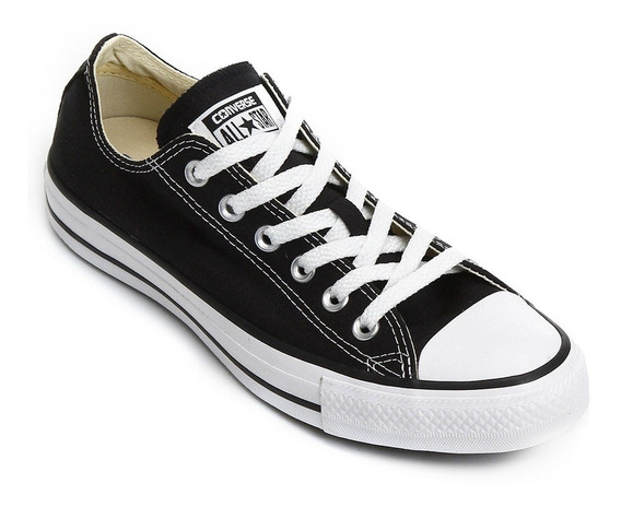 Tenis All Star Converse Preto Lona Adulto Original + Nf