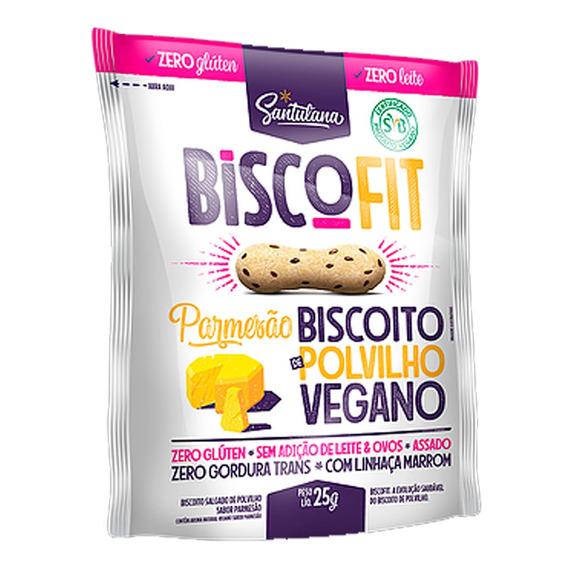Biscoito Polvilho Parmesão Vegano Sem Glúten Biscofit 25g