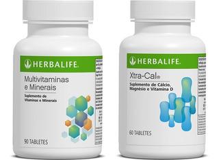 Multi Vitaminas Herbalife + Xtra-cal ( Cálcio E Magnésio )