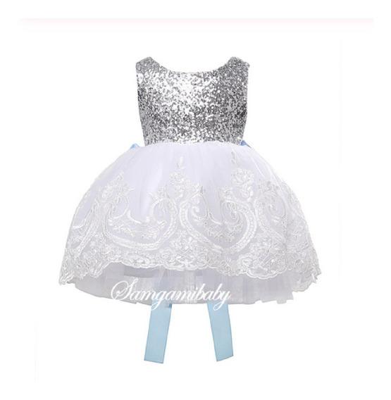 Vestido Bebe Niña Fiesta Princesa Cumpleaños Bautizo Disfraz