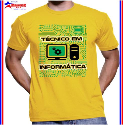 Camisa Camiseta De Técnico Em Informatica Personalizada