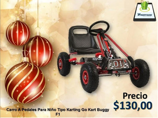 Auto A Pedales Modelo Karting Go Kart Buggy F1