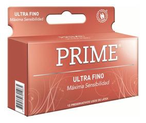 Preservativos Prime Ultra Fino X12 Unidades Mas Sensibilidad