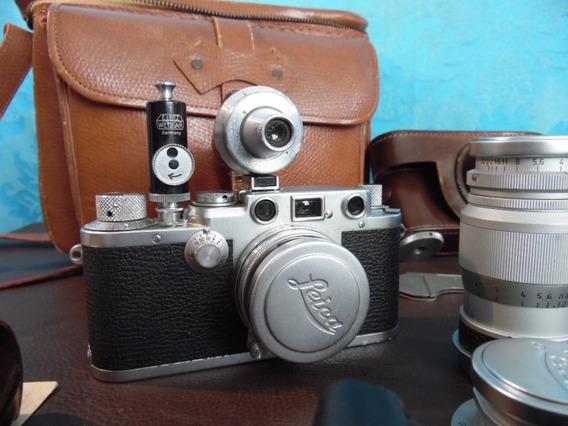 Camera Fotografica Leica Drp 1952 Completa Todos Acessórios